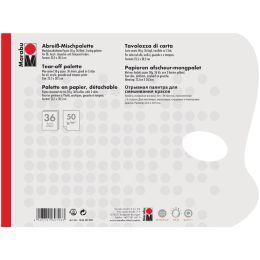 Marabu Abreiß-Farbmisch-Palette, aus Papier