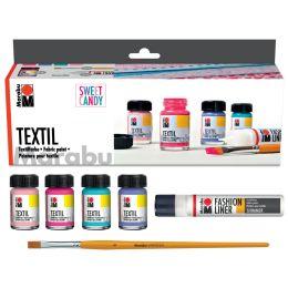 Marabu Textilfarbe Textil, Set SWEET CANDY