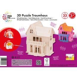 mara by Marabu 3D Puzzle Traumhaus, 33 Holzteile