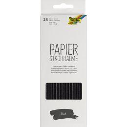 folia Papier-Trinkhalm BLACK, Länge: 200 mm