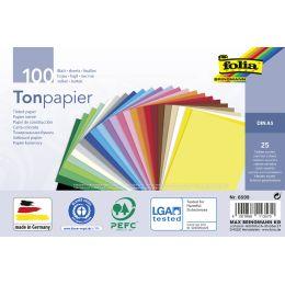 folia Tonpapier, DIN A5, 130 g/qm, 25 Farben sortiert