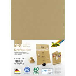 folia Kraftpapier, 120 g/qm, DIN A5, 100 Blatt