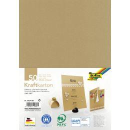 folia Kraftkarton, 230 g/qm, DIN A5, 50 Blatt