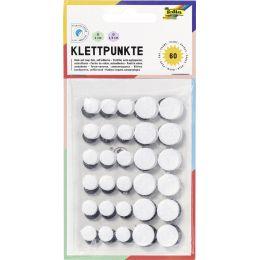 folia Klettpunkte Mini, Größen sortiert, schwarz & weiß