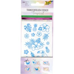 folia Transferfolien-Sticker TROPICAL, 19 Stück