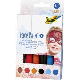 folia Schminkstifte Face Paint Set WILD