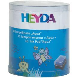 HEYDA Stempelkissen-Set Aqua, Klarsicht-Runddose