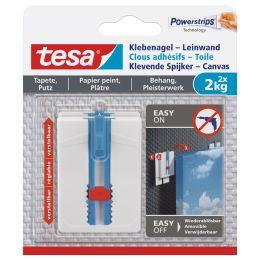 tesa Powerstrips Klebenagel, für Tapete & Putz, 2,0 kg