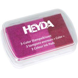 HEYDA Stempelkissen 3-Color, pink/rosa/magenta