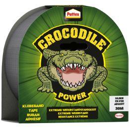 Pattex Crocodile Power Klebeband, 48 mm x 30 m, silber