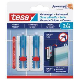 tesa Powerstrips Klebenagel, für Fliesen & Metall, 2,0 kg