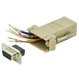 DIGITUS RS 232 Adapter, DB9 Kupplung - RJ45 Kupplung, beige