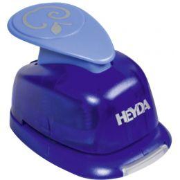 HEYDA Motiv-Locher Blüte, groß, Farbe: blau