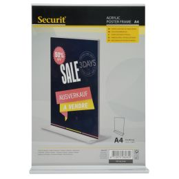 Securit Tischaufsteller Acrylic, DIN A5 hoch, gerade