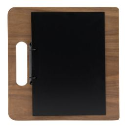 Securit Speisekarten-Ringbuch CHOPPING BOARD, Walnussholz