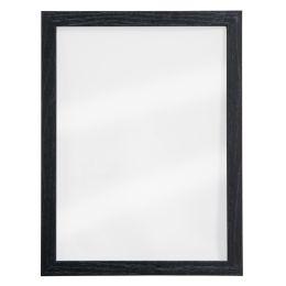 Securit Kreidetafel WOODY, aus Glas, Holz-Rahmen, schwarz