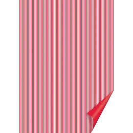 HEYDA Bastelkarton Happy Papers Linien, DIN A4, rot