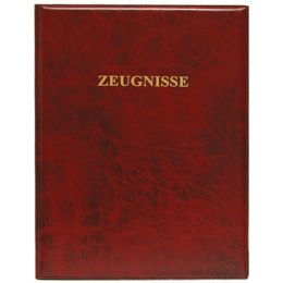 ROTH Zeugnisringbuch, Kunststoff, DIN A4, dunkelrot