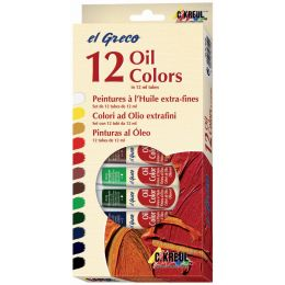 KREUL Ölfarbe el Greco, 12 ml, 12er-Set