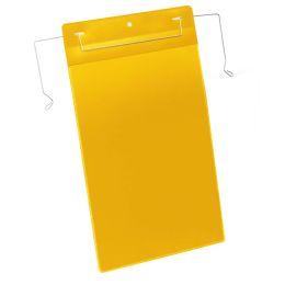 DURABLE Drahtbügeltasche, DIN A4 hoch, gelb