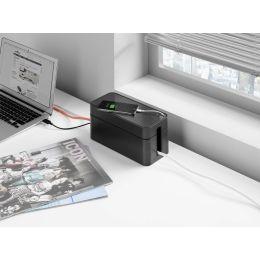 DURABLE Kabelbox CAVOLINE BOX S, aus Kunststoff, graphit