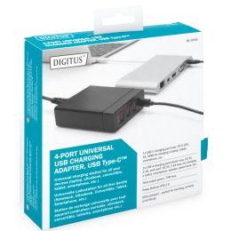 DIGITUS Universal USB Lade-Adapter, 4-Port, schwarz