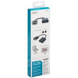 DIGITUS VGA - HDMI + Audio Konverter, schwarz