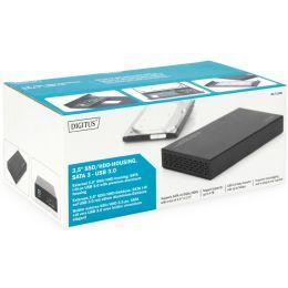 DIGITUS 3,5 SATA III Festplatten-Gehäuse, USB 3.0, schwarz