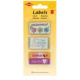 KLEIBER Stoff-Labels Gemischt, 45 x 25 mm