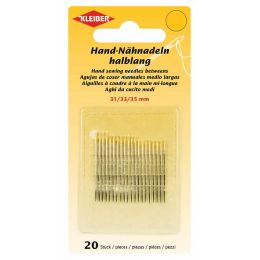 KLEIBER Hand-Nähnadel-Set, 20-teilig, halblang