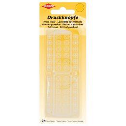 KLEIBER Druckknöpfe, Kunststoff, transparent