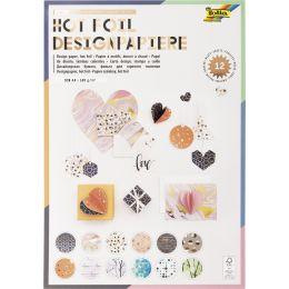 folia Designpapierblock Hotfoil III, DIN A4, 165 g/qm