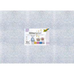folia Glitterkarton GROB, 500 x 700 mm, 300 g/qm