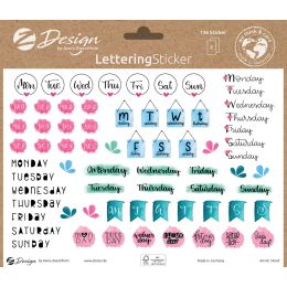 AVERY Zweckform ZDesign Trend Sticker LETTERING Tag+Monat