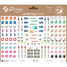 AVERY Zweckform ZDesign Trend Sticker LETTERING Icons