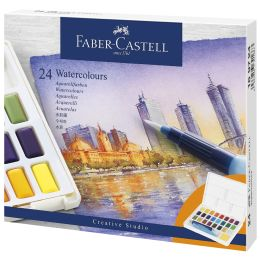 FABER-CASTELL Aquarellfarbe in Näpfchen, 24er Etui