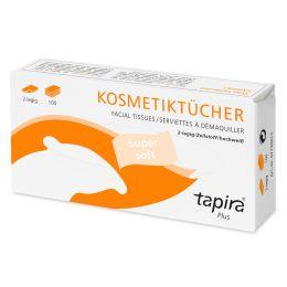 Tapira Kosmetiktücher Plus, 2-lagig, hochweiß
