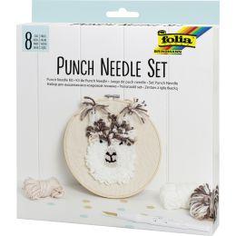 folia Punch Needle Set Alpaka, 8-teilig