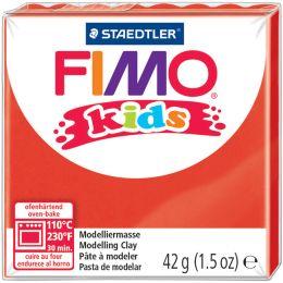 FIMO kids Modelliermasse, ofenhärtend, rot, 42 g