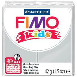 FIMO kids Modelliermasse, ofenhärtend, hellgrau, 42 g