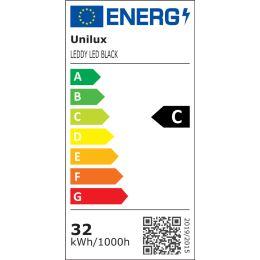 UNiLUX LED-Deckenfluter LEDDY, dimmbar, schwarz