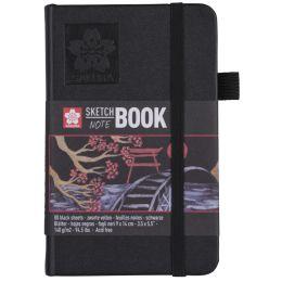 SAKURA Skizzenbuch/Notizbuch, 90 x 140 mm, schwarz