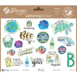 AVERY Zweckform ZDesign Trend Sticker LETTERING Umwelt