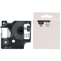 rillstab Schriftbandkassette, schwarz/weiß, 12 mm x 7 m