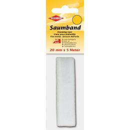 KLEIBER Saumvlies, 20 mm x 5 m, weiß