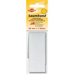 KLEIBER Saumvlies, 38 mm x 3 m, weiß