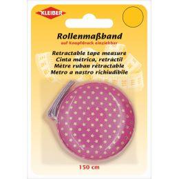 KLEIBER Schneider-Rollmaßband, 150 cm, pink