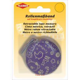 KLEIBER Schneider-Rollmaßband, 150 cm, lila