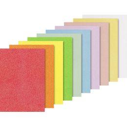 HEYDA Glitterkarton-Sortiment Iris, A4, 200 g/qm, 10 Blatt