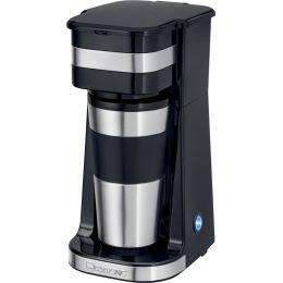 CLATRONIC Kaffeemaschine to go KA 3733, schwarz/silber